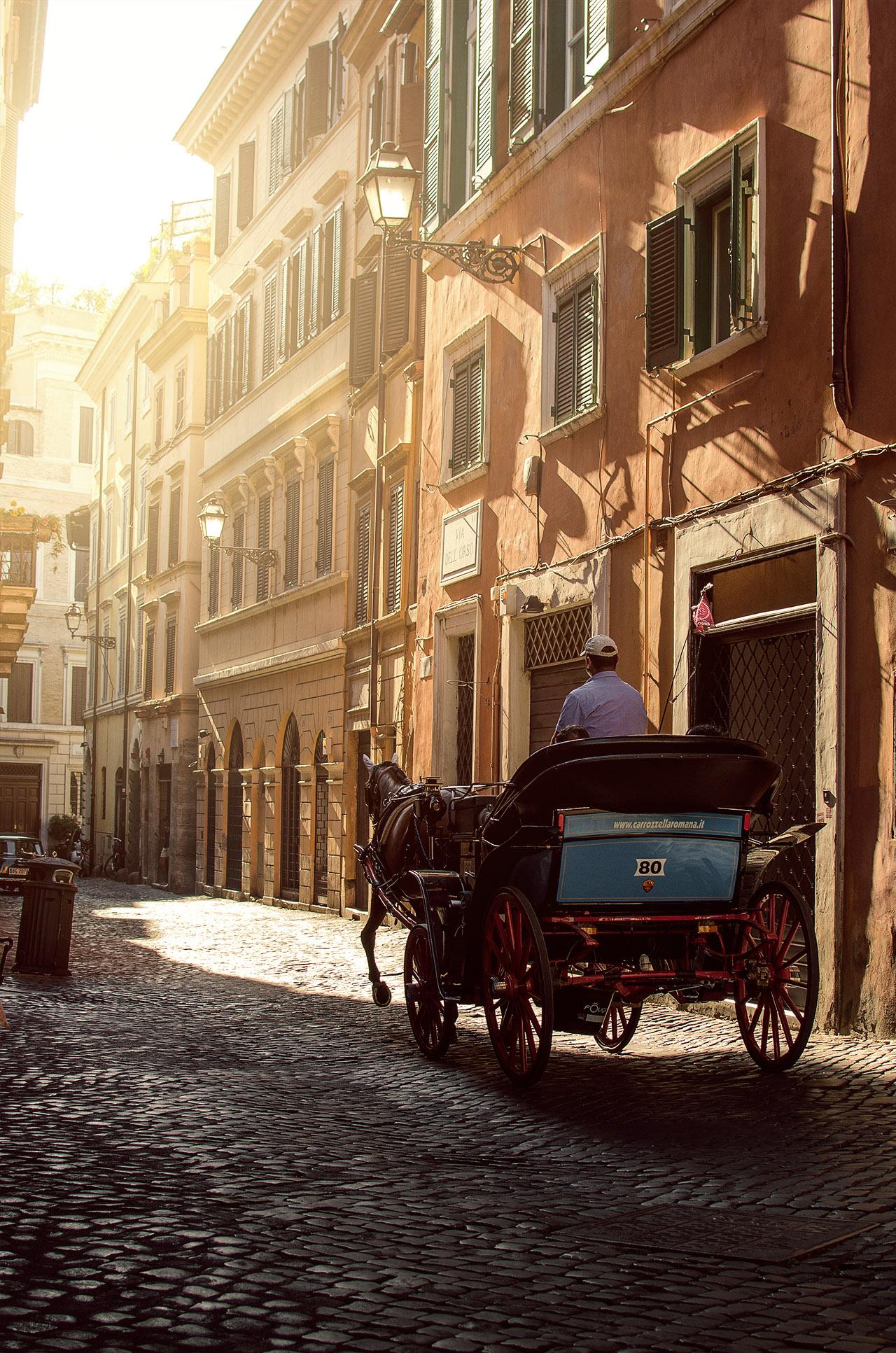 rome horse drawn carriage