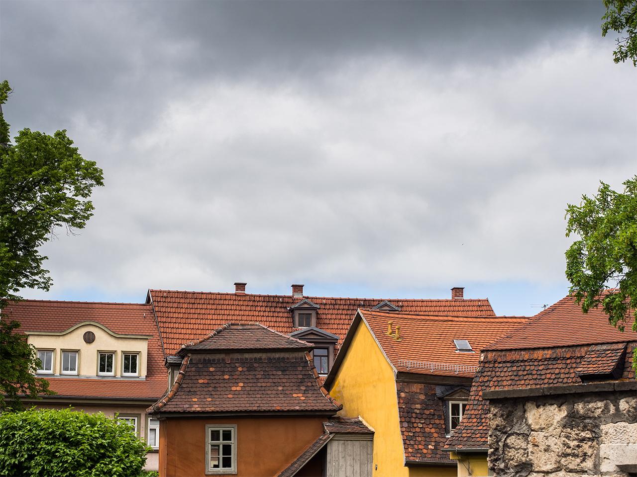 Weimar Häuser und Dächer