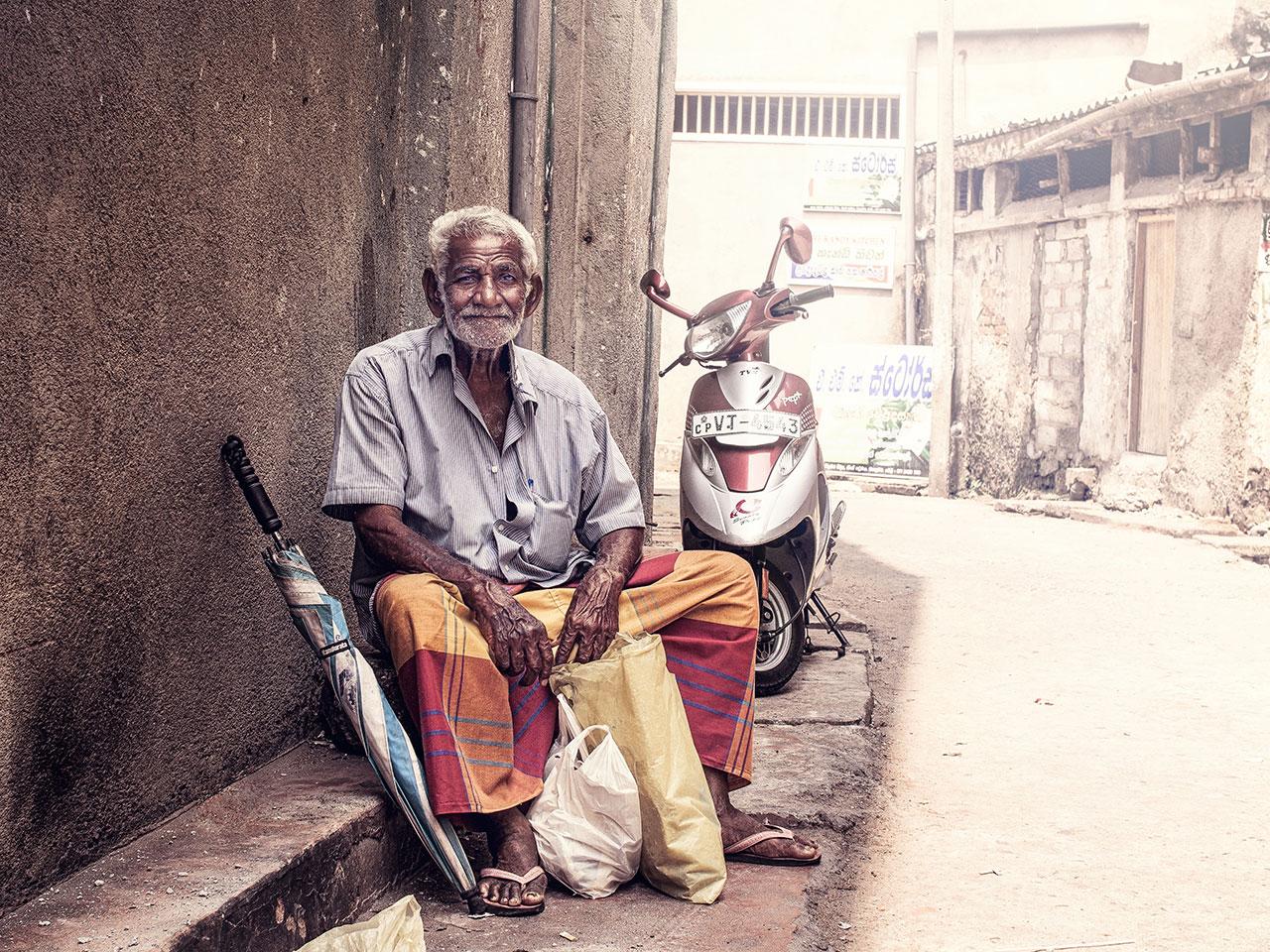 Sri Lanka Man Portrait Kandy
